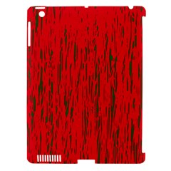 Decorative red pattern Apple iPad 3/4 Hardshell Case (Compatible with Smart Cover)