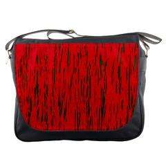 Decorative red pattern Messenger Bags