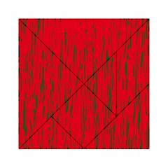 Decorative red pattern Acrylic Tangram Puzzle (6  x 6 )