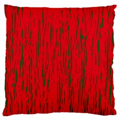 Decorative red pattern Large Cushion Case (Two Sides)