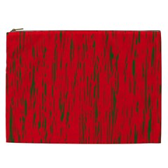 Decorative red pattern Cosmetic Bag (XXL)