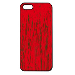 Decorative red pattern Apple iPhone 5 Seamless Case (Black)