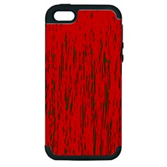 Decorative red pattern Apple iPhone 5 Hardshell Case (PC+Silicone)
