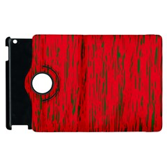 Decorative red pattern Apple iPad 2 Flip 360 Case