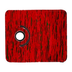 Decorative red pattern Samsung Galaxy S  III Flip 360 Case