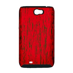 Decorative red pattern Samsung Galaxy Note 2 Hardshell Case (PC+Silicone)