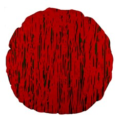 Decorative red pattern Large 18  Premium Round Cushions