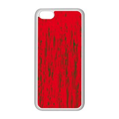 Decorative red pattern Apple iPhone 5C Seamless Case (White)