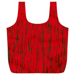 Decorative red pattern Full Print Recycle Bags (L)