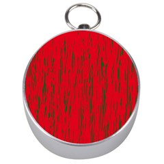 Decorative red pattern Silver Compasses