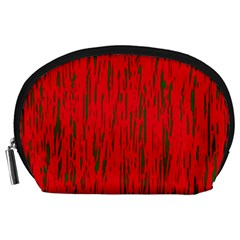 Decorative red pattern Accessory Pouches (Large)
