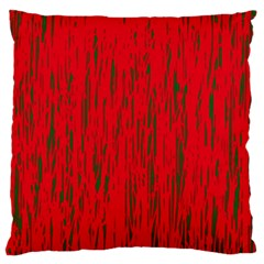 Decorative red pattern Large Flano Cushion Case (One Side)
