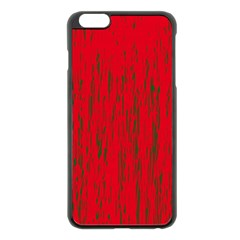 Decorative red pattern Apple iPhone 6 Plus/6S Plus Black Enamel Case