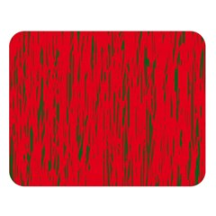 Decorative red pattern Double Sided Flano Blanket (Large)