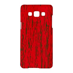 Decorative red pattern Samsung Galaxy A5 Hardshell Case