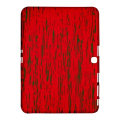 Decorative Red Pattern Samsung Galaxy Tab 4 (10 1 ) Hardshell Case