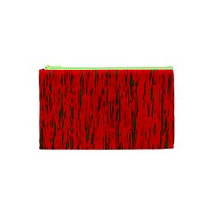 Decorative red pattern Cosmetic Bag (XS)