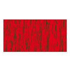 Decorative red pattern Satin Shawl