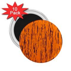 Orange pattern 2.25  Magnets (10 pack)