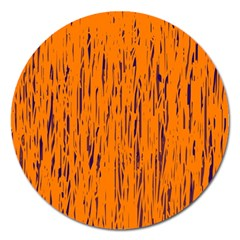 Orange pattern Magnet 5  (Round)