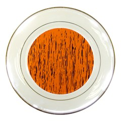 Orange pattern Porcelain Plates