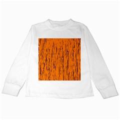 Orange pattern Kids Long Sleeve T-Shirts