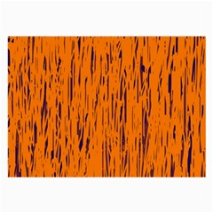 Orange pattern Large Glasses Cloth (2-Side)