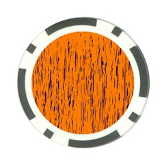 Orange Pattern Poker Chip Card Guards