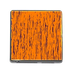 Orange pattern Memory Card Reader (Square)