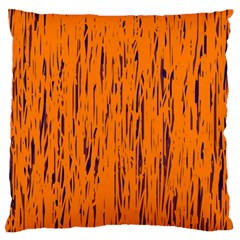 Orange pattern Large Cushion Case (Two Sides)