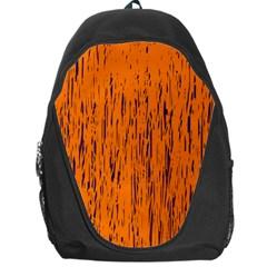 Orange pattern Backpack Bag