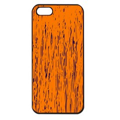 Orange pattern Apple iPhone 5 Seamless Case (Black)