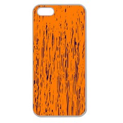 Orange pattern Apple Seamless iPhone 5 Case (Clear)