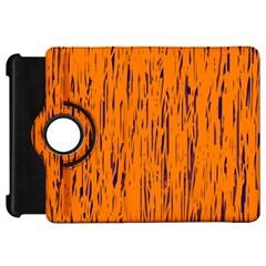 Orange pattern Kindle Fire HD Flip 360 Case