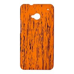 Orange pattern HTC One M7 Hardshell Case