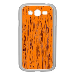 Orange pattern Samsung Galaxy Grand DUOS I9082 Case (White)