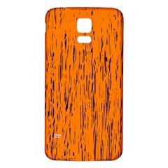 Orange pattern Samsung Galaxy S5 Back Case (White)