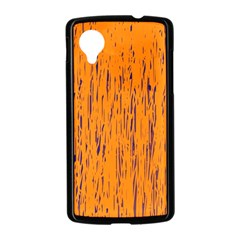 Orange pattern Nexus 5 Case (Black)