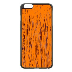 Orange pattern Apple iPhone 6 Plus/6S Plus Black Enamel Case