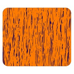 Orange pattern Double Sided Flano Blanket (Small)