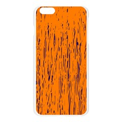 Orange pattern Apple Seamless iPhone 6 Plus/6S Plus Case (Transparent)