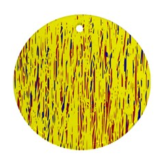 Yellow pattern Ornament (Round)
