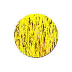 Yellow pattern Magnet 3  (Round)