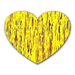 Yellow pattern Heart Mousepads