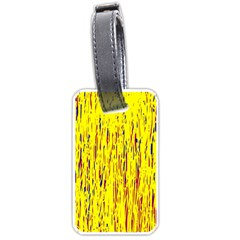 Yellow pattern Luggage Tags (Two Sides)
