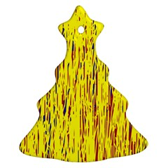 Yellow pattern Christmas Tree Ornament (2 Sides)
