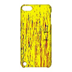 Yellow pattern Apple iPod Touch 5 Hardshell Case with Stand