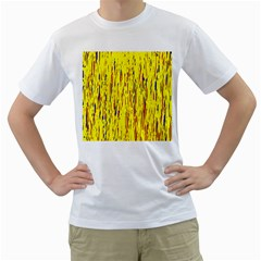 Yellow pattern Men s T-Shirt (White)