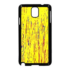 Yellow pattern Samsung Galaxy Note 3 Neo Hardshell Case (Black)