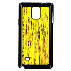 Yellow pattern Samsung Galaxy Note 4 Case (Black)